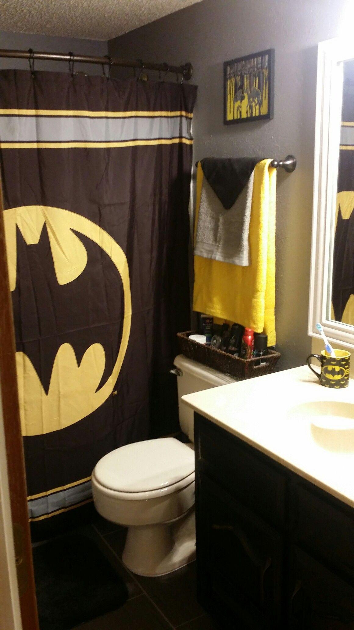Batman Themed Bathroom Batman Bathroom Decor Batman Bathroom