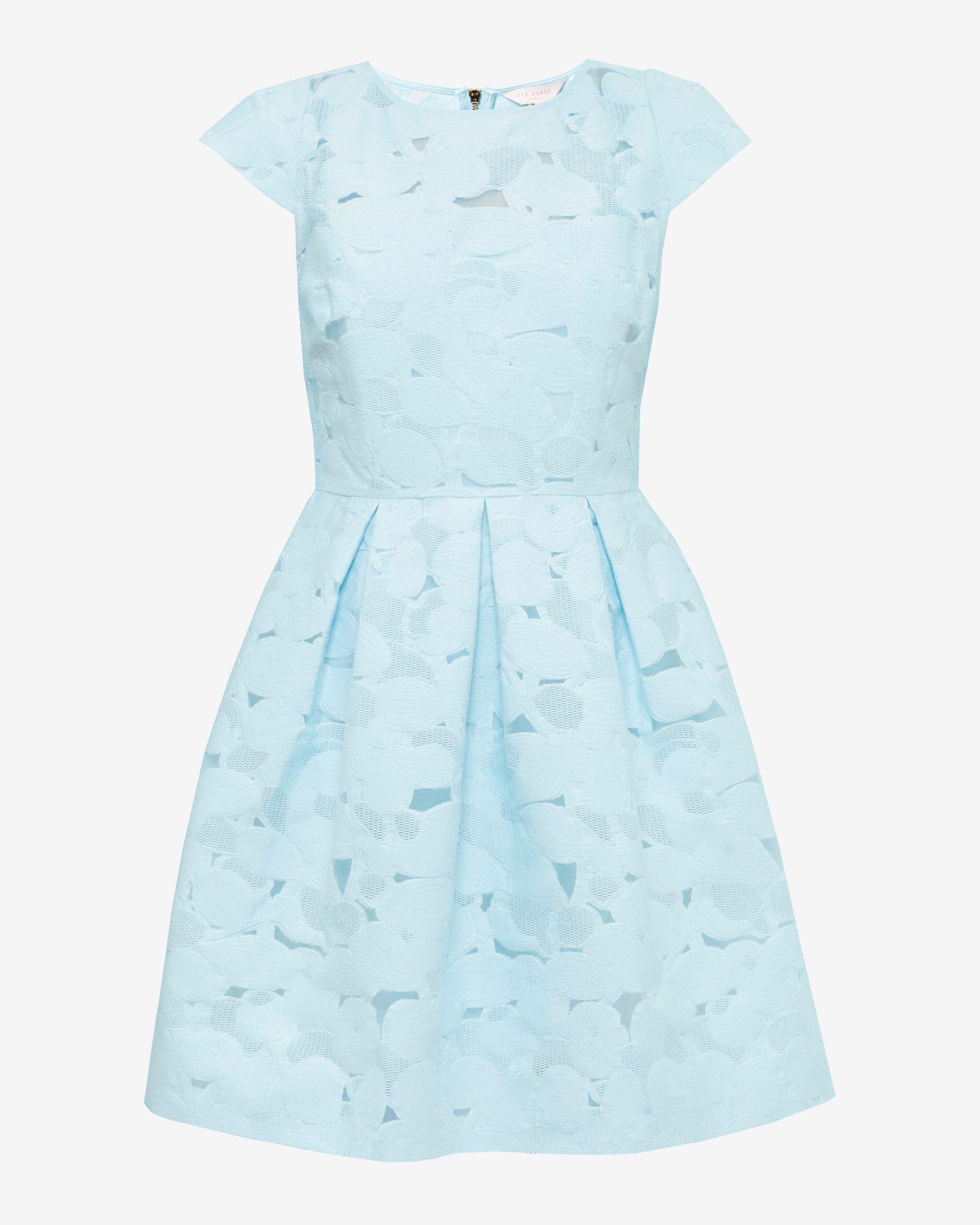 9b717c7ec0722f Burn out floral dress - Baby Blue