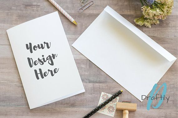 Greeting card mockup 104 instant digital download white greeting instant download white blank greeting card with envelope mockup with pens stamps m4hsunfo