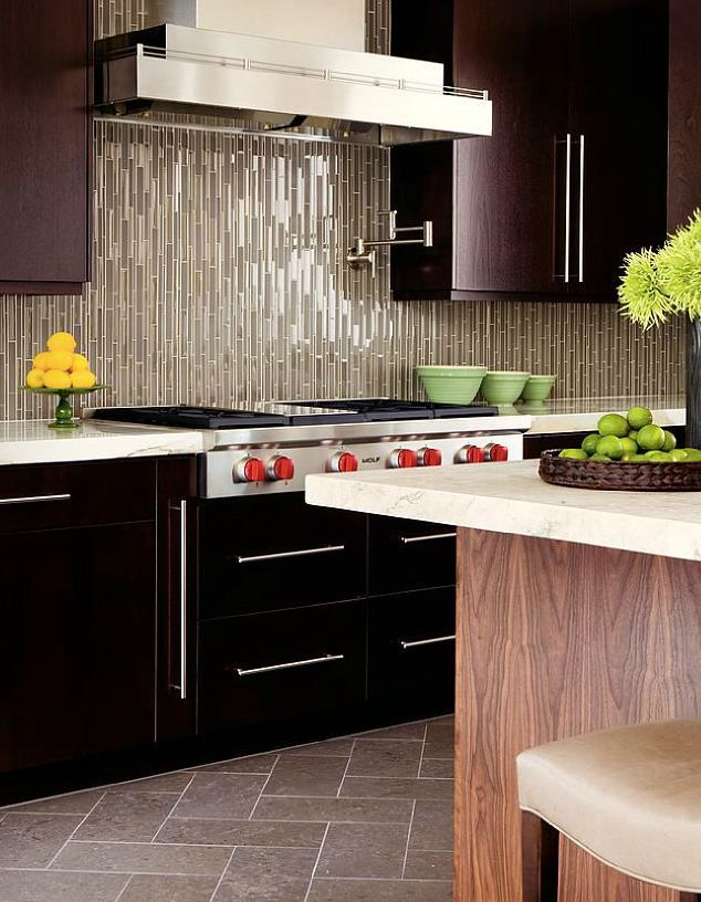 Captivating Skyline Linear Field Mosaic Glass Tile Backsplash : Why Should Be Glass  Backsplashes For Kitchens?