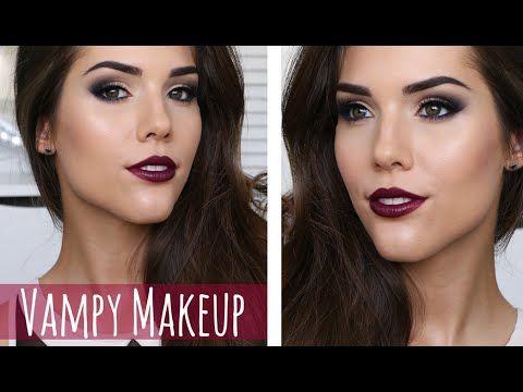 Vampy Makeup Tutorial Winged Eye Liner Brown Eyes Vampy Lips