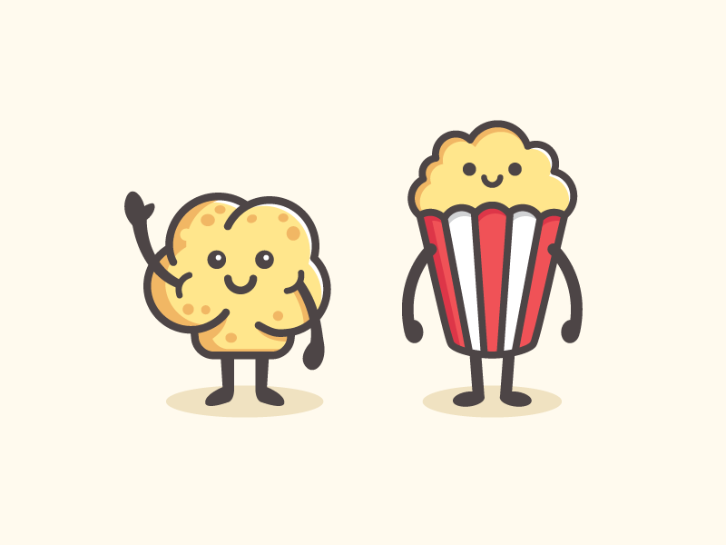 Popcorn Character Popcorn Logo Drawing Lessons For Kids Cute Cartoon Drawings