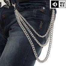 37ec633e0 Moda Punk Hip hop de moda cinturón cadena de la cintura de múltiples capas  de pantalones para hombre de la cadena hombres calientes pantalones  vaqueros del ...