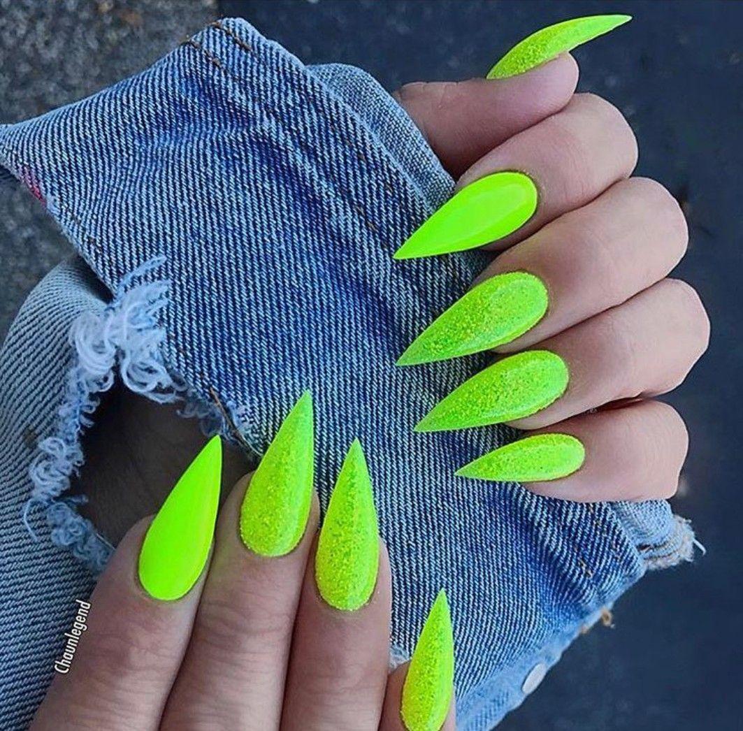 Lime Green Nails Neon Green Nails Lime Green Nails Acrylic Nails Stiletto