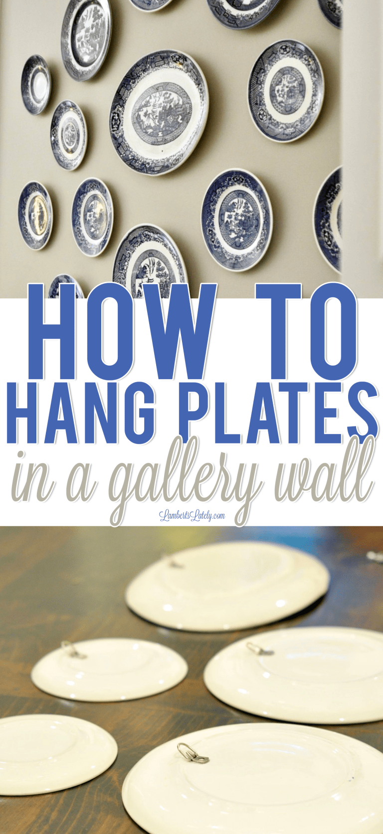 How To Hang Plates In A Gallery Wall In 2020 Plate Wall Decor Plates On Wall Dining Room Gallery Wall