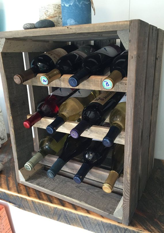 Vintage Wine Rack Reclaimed Wood Apple Crate Rustic Etsy Vintage Wine Rack Rustic Wine Racks Rustic Wine Box
