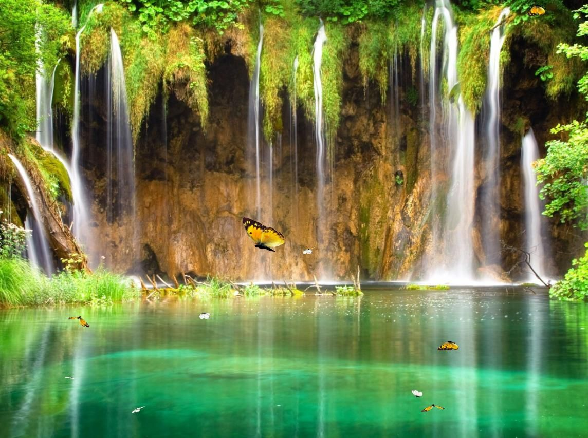 Live Backgrounds For Pc Free Download Beautiful Waterfalls Waterfall Wallpaper Plitvice Lakes National Park