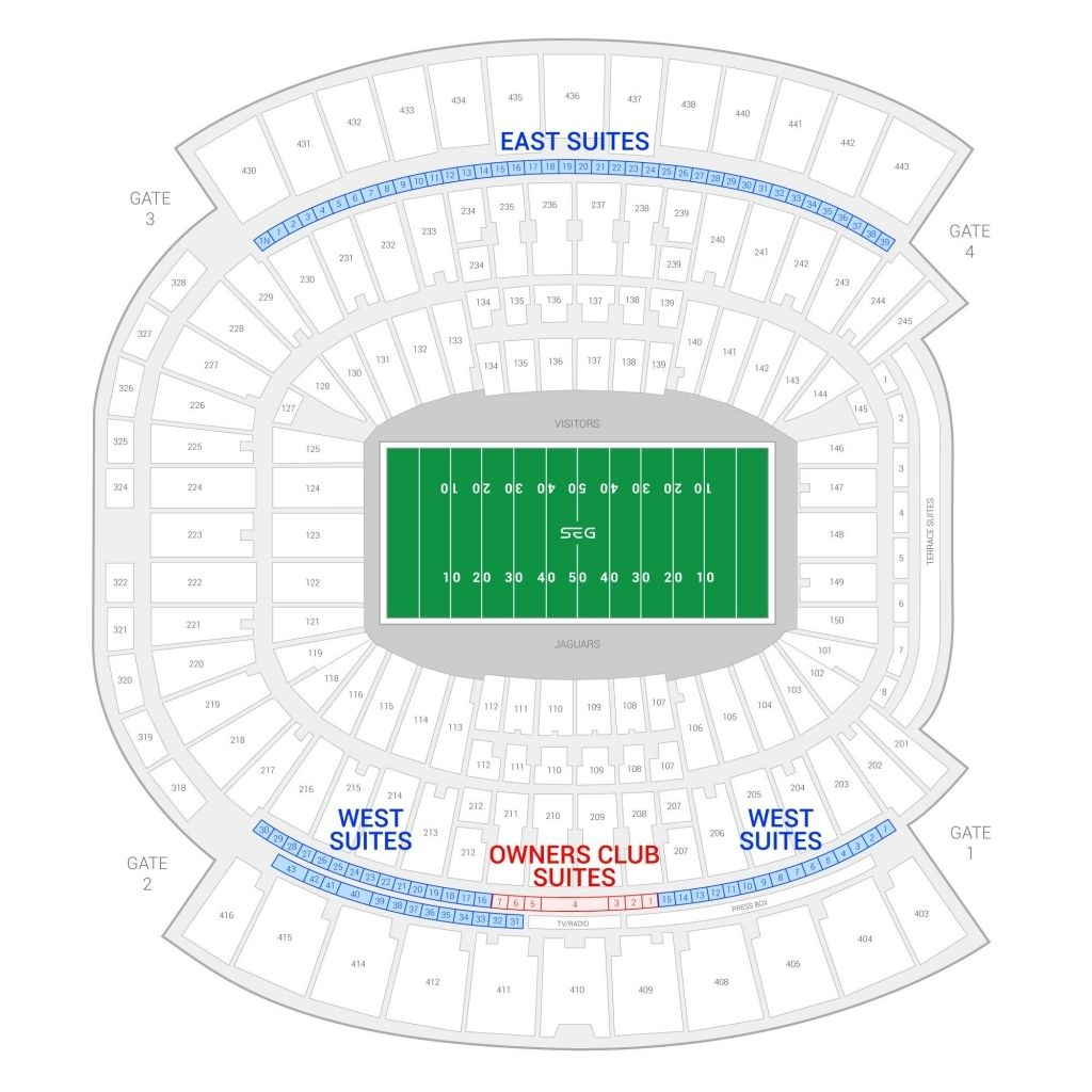 Everbank Field Seating Chart With Rows Di 2020