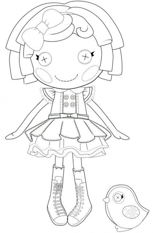 The Best Lalaloopsy Dolls Coloring Pages | Lalaloopsy, Bird and ...