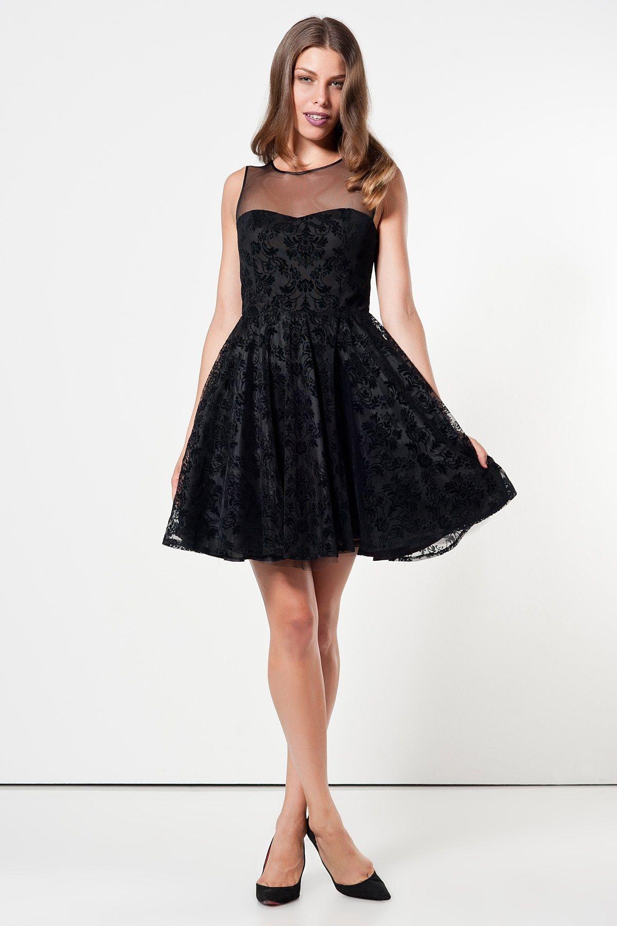 Milla By Trendyol Elbise Siyah Kisa Elbise Kiyafet