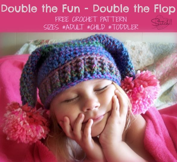 Double the fun - Double the Flop - Free Crochet Pattern Adult-Child ...