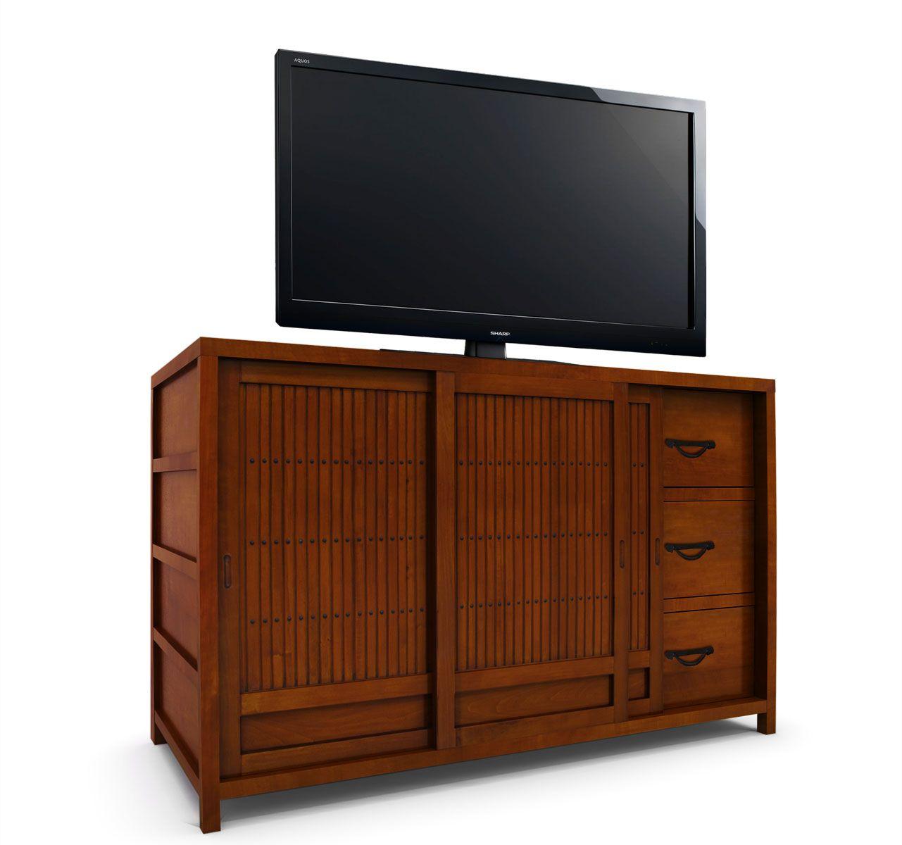 """Usagi TV Stand  $1750$1400  54""""w x 24""""d x 34""""h(exterior"""