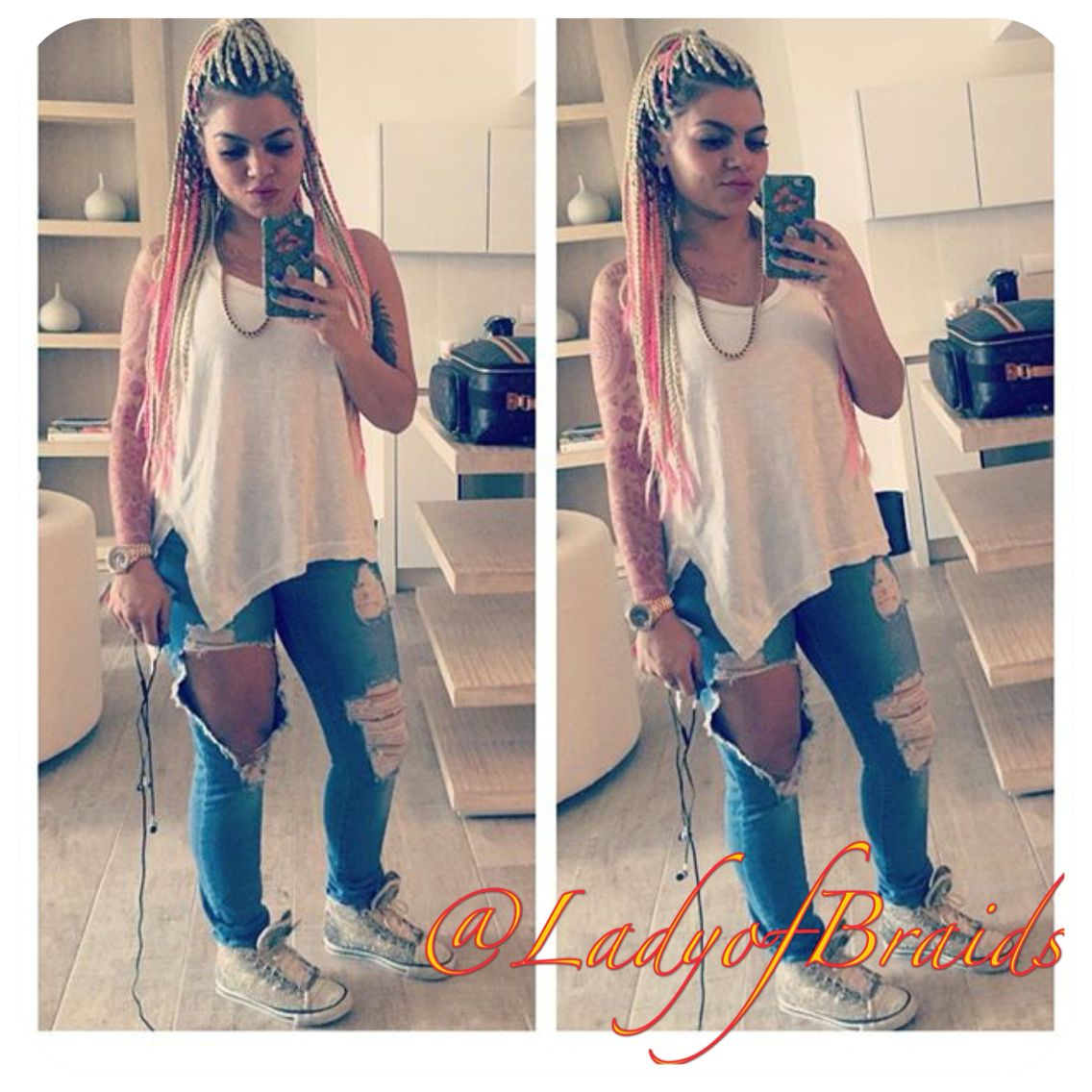 Summer Outfit White Girl Braids Caucasian Girl Braids Box