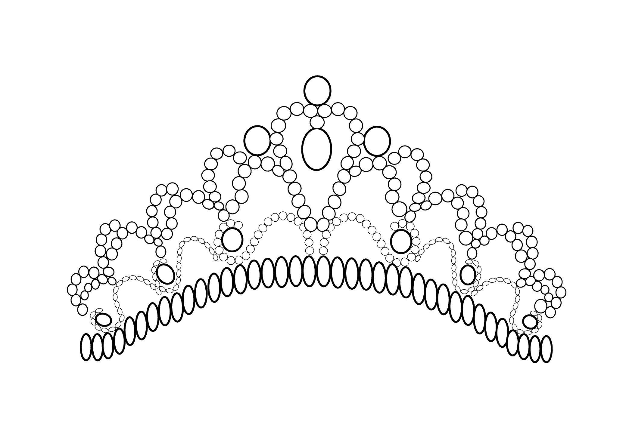 tiara coloring page free coloring pages download xsibe queen tiara
