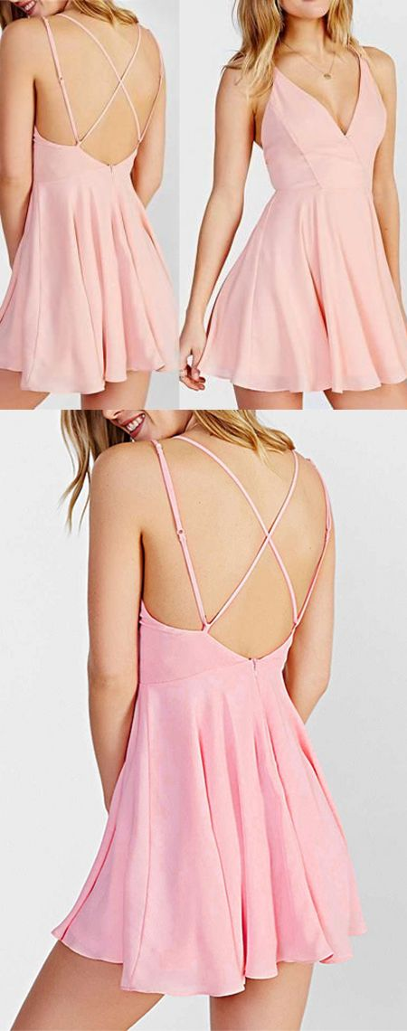 short homecoming dress,homecoming dresses,pink homecoming dress ...
