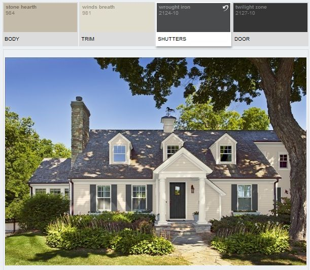 Benjamin Moore Verdigris Google Search: Best Exterior White To Go With Benjamin Moore Stone Hearth
