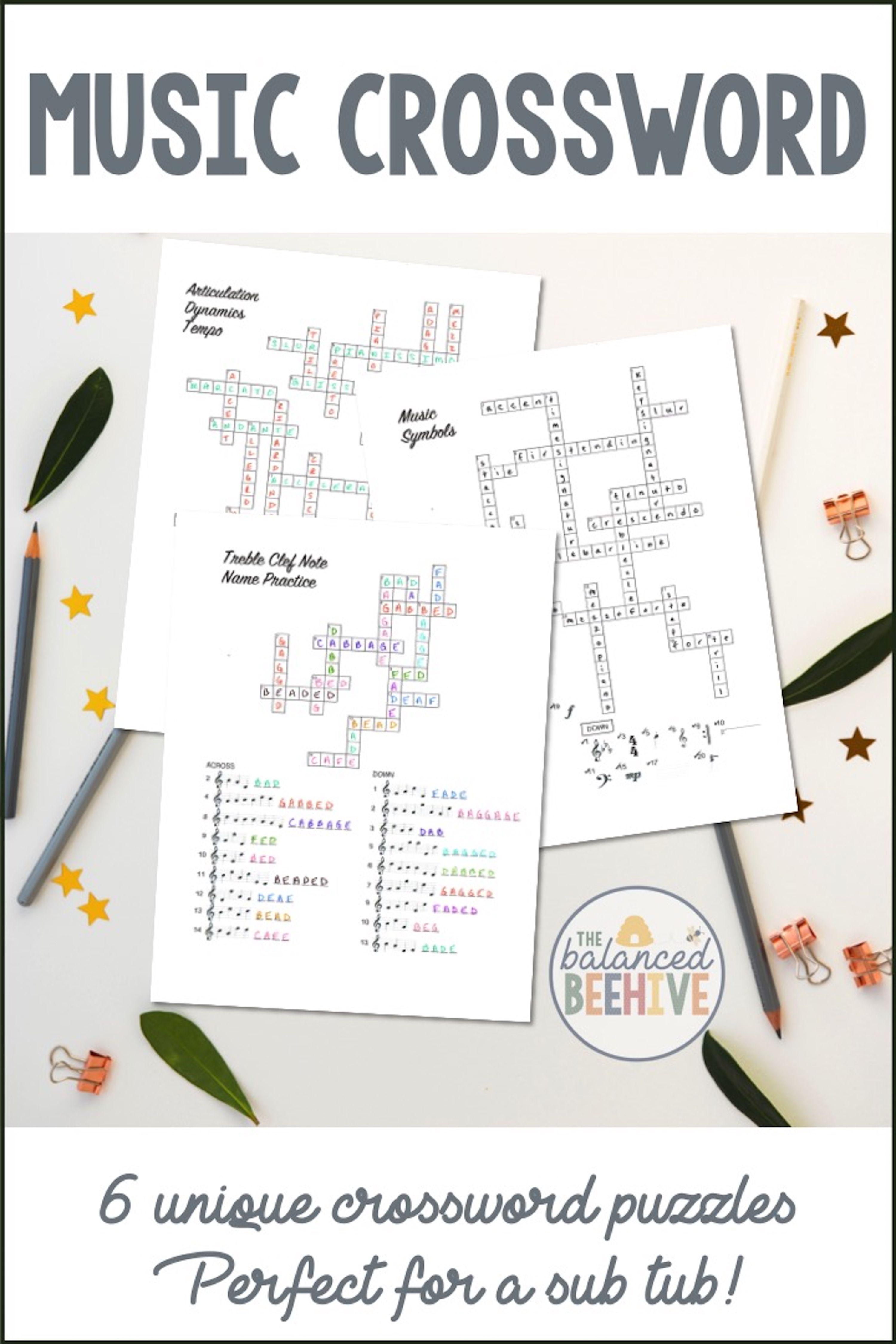 Music Crossword Puzzles