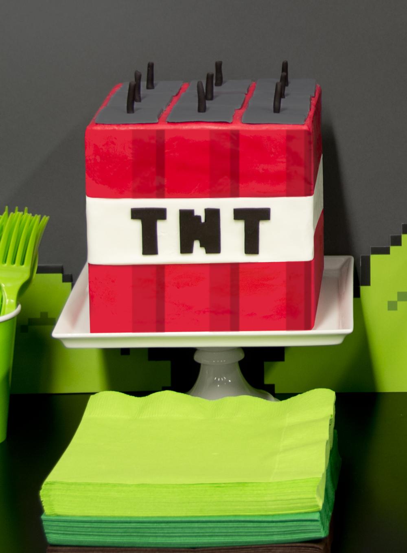 Tnt Minecraft Cake Topper