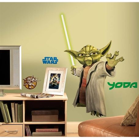Star Wars™: The Clone Wars Giant Yoda Wall Decal  $18.49