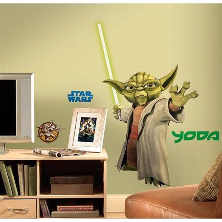 Star Wars™: The Clone Wars Giant Yoda Wall Decal  $18.49