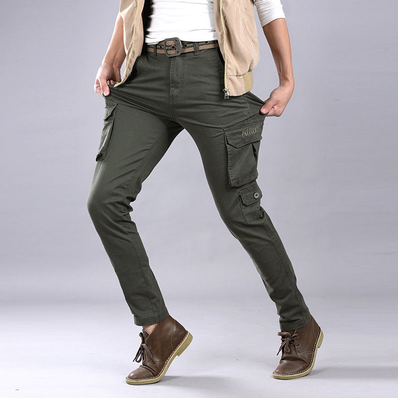 fantastic savings hot new products wholesale sales Click to Buy << New arrival mens Stretch cotton skinny army ...