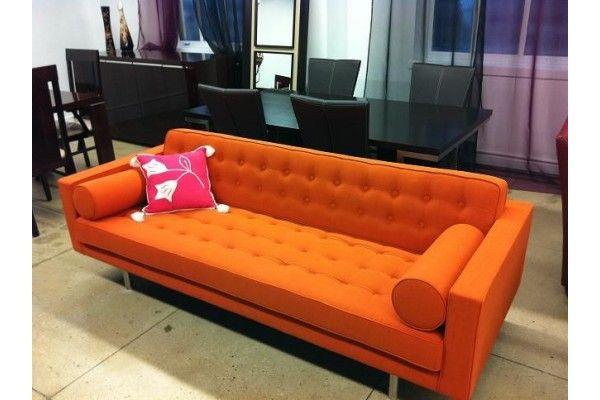 Bulgaria Orange Fabric Sofa Orange Sofa Sofa Fabric Sofa