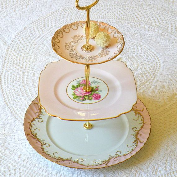 Alice Shines in Pink Vintage China Cupcake by HighTeaForAlice