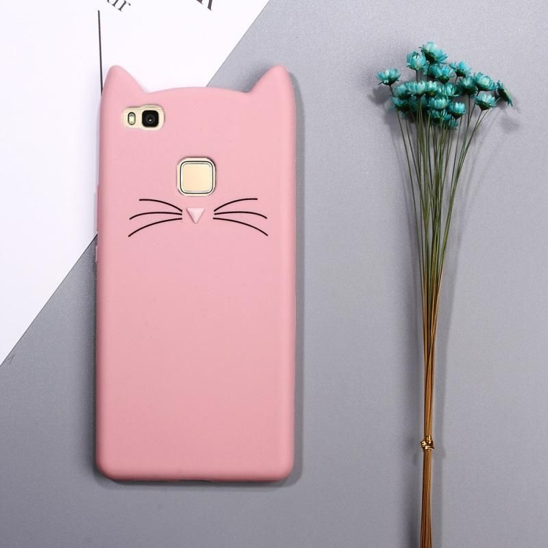 Dulcii Fundas For Huawei P8 Lite 2017 P9 Lite P10 Lite Case Silicone Cute 3d Cat Phone Cover P8 Lite Shell Black Pink White Phone Cover Case Phone Shell