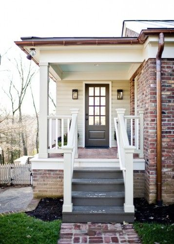 Side porch you can use wood door on a porch with for Side entrance porch designs