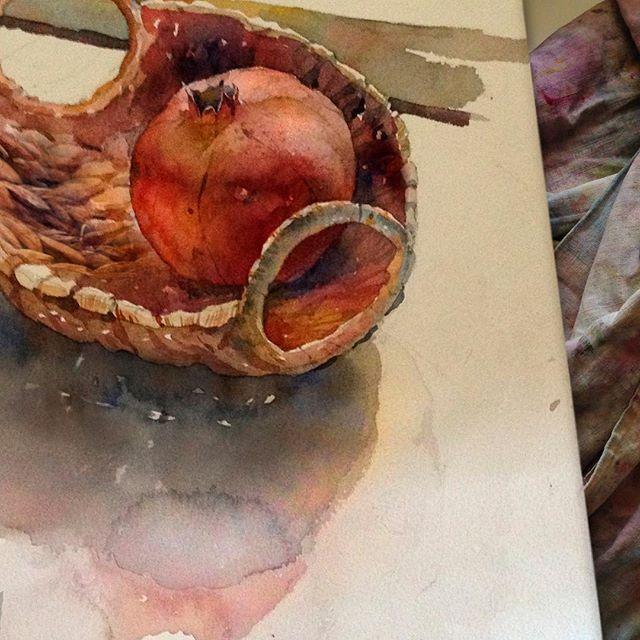 Pomegranate.  Я не так уж люблю рисовать контражур, ибо слишком сложно для меня. Но он дарит самые цветные тени :)