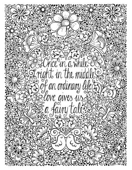 Once In A While Quote Coloring Pages Coloring Books