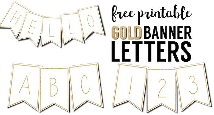 free printable banner letters template these gold free printable letters for banners are a great