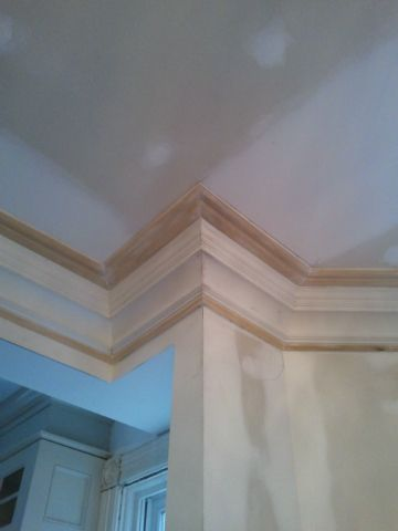 Layered Crown Mouldings 13 Diagonal High Ceilings Make It Work Moldings And Trim Trim Carpentry High Ceiling