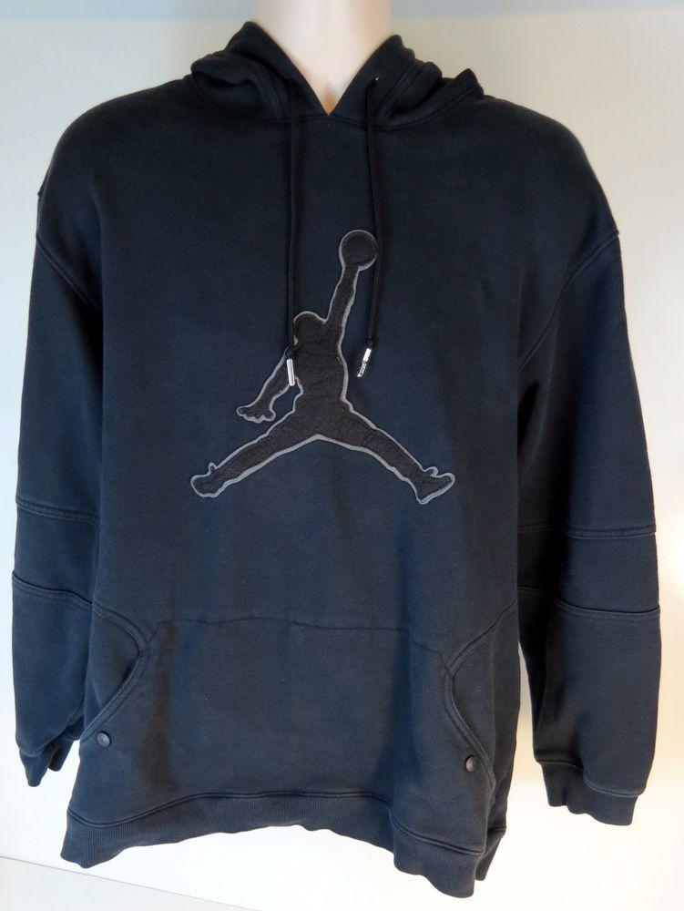 Rare Nike Jordan Hoodie Sweatshirt Navy