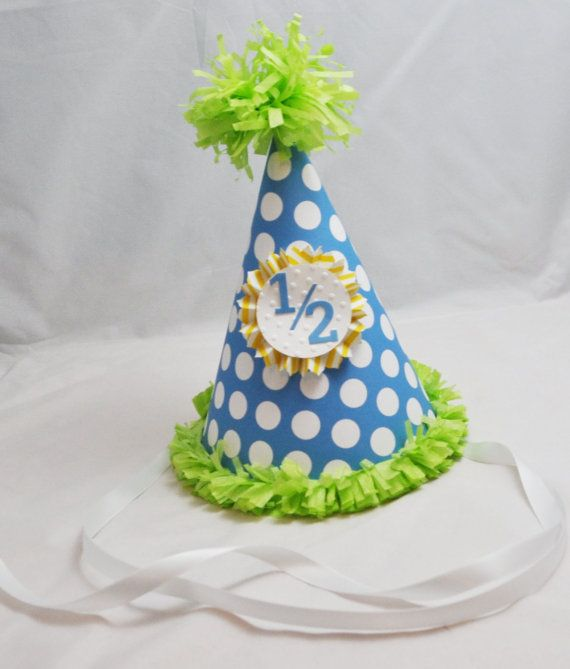 1 2 Birthday Hat By CardsandMoorebyTerri On Etsy 1000 Half Cakes 2nd