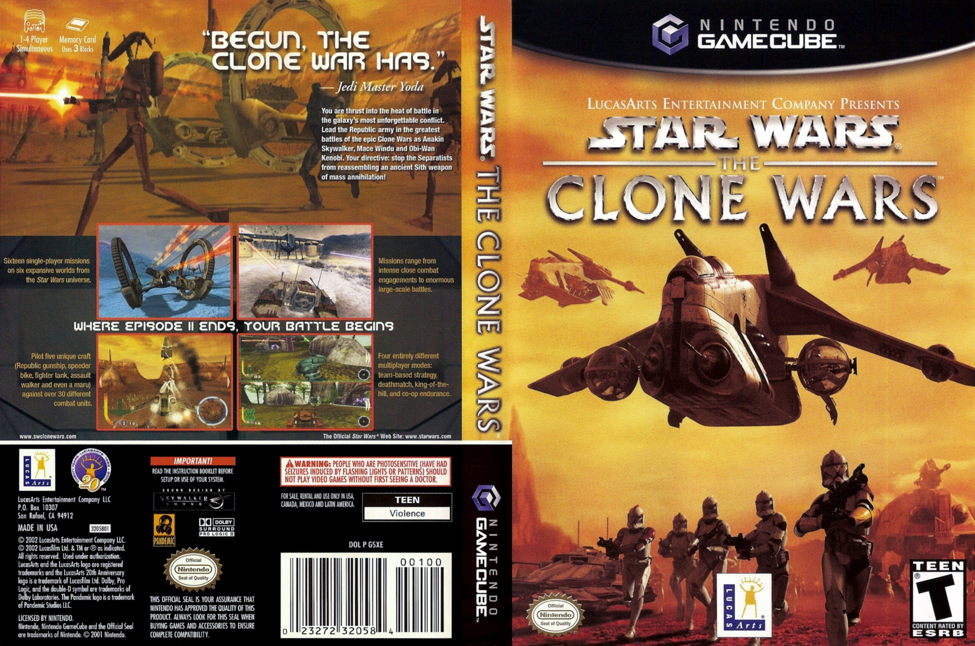 download star wars the clone wars nintendo gamecube emu rom