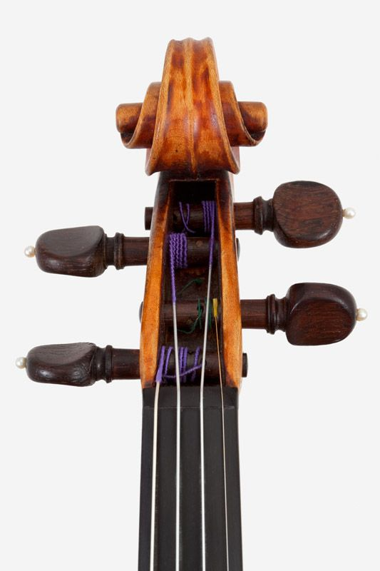 1734c Straduvari violin (with caliper, mm) Back 356 Upper Bout 166.5 Middle Bout 107 Lower Bout 206