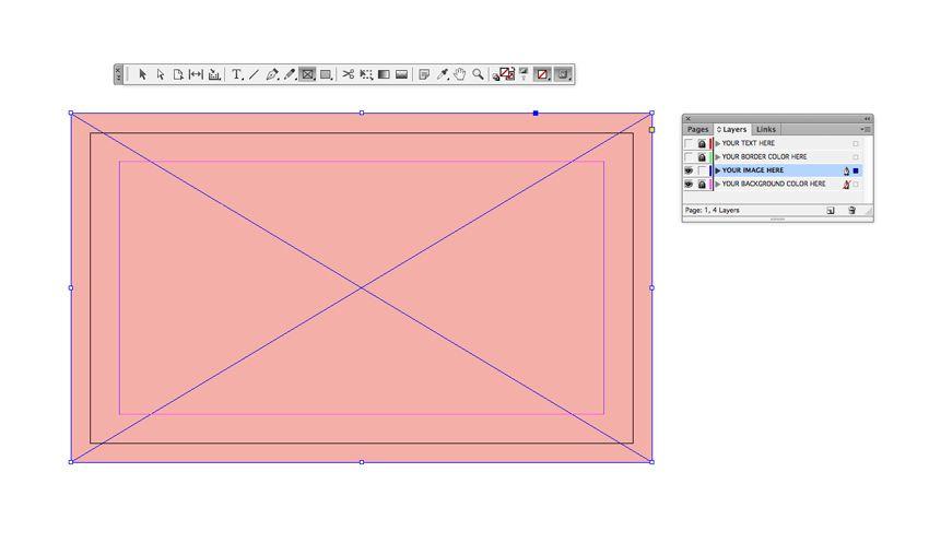 Image Frame Adobe Indesign Business Cards Visit Frames Carte