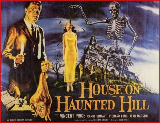 The House On Haunted Hill House On Haunted Hill Horror Movie Posters Vincent Price