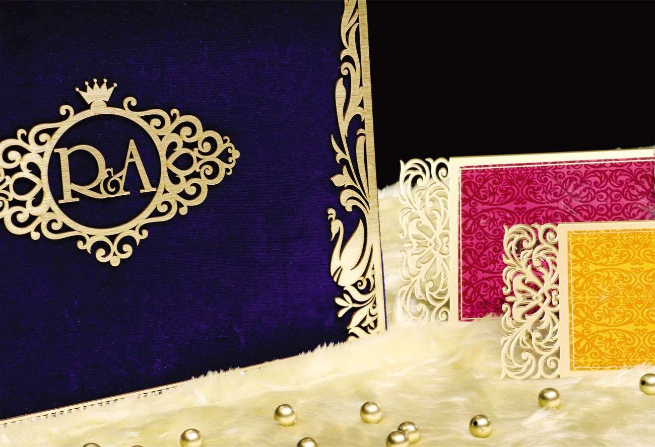 BLUE-BELL Wedding card designer invitation card by VWI New Delhi ...