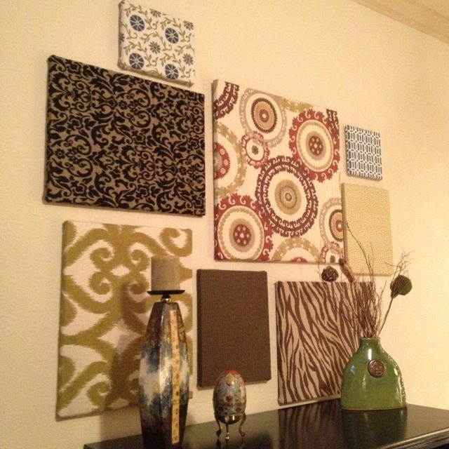 Fabric covered canvas. So fun and easy! | CANVAS painting ...