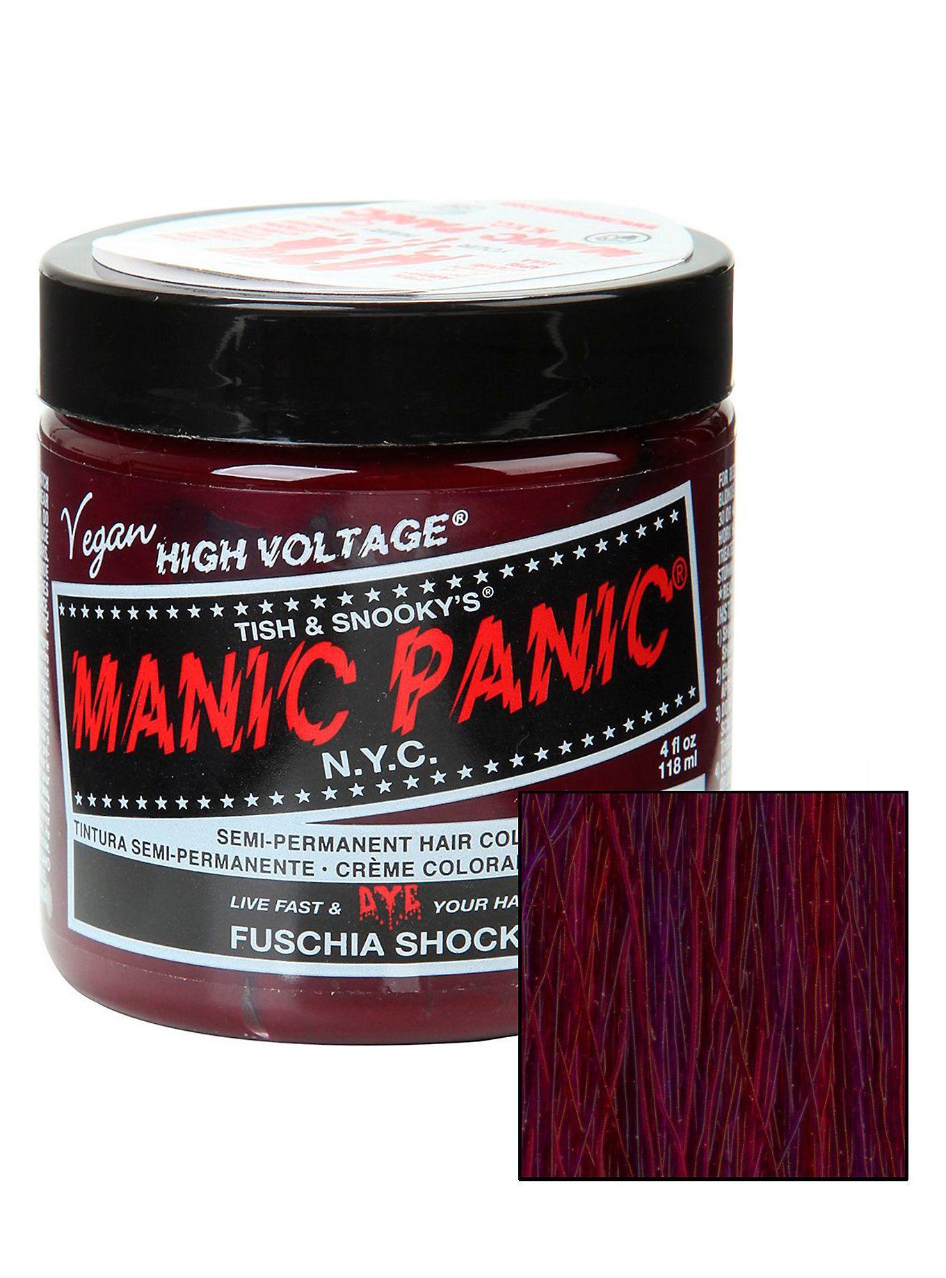 Manic Panic Fuschia Shock Classic Cream Hair Dye Manic Panic Infra Red Dyed Hair Hair Cream