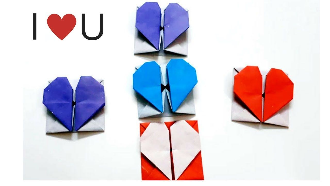Easy heart box origami with paper for your valentine origami easy heart box origami with paper for your valentine origami heart box with a secret jeuxipadfo Choice Image
