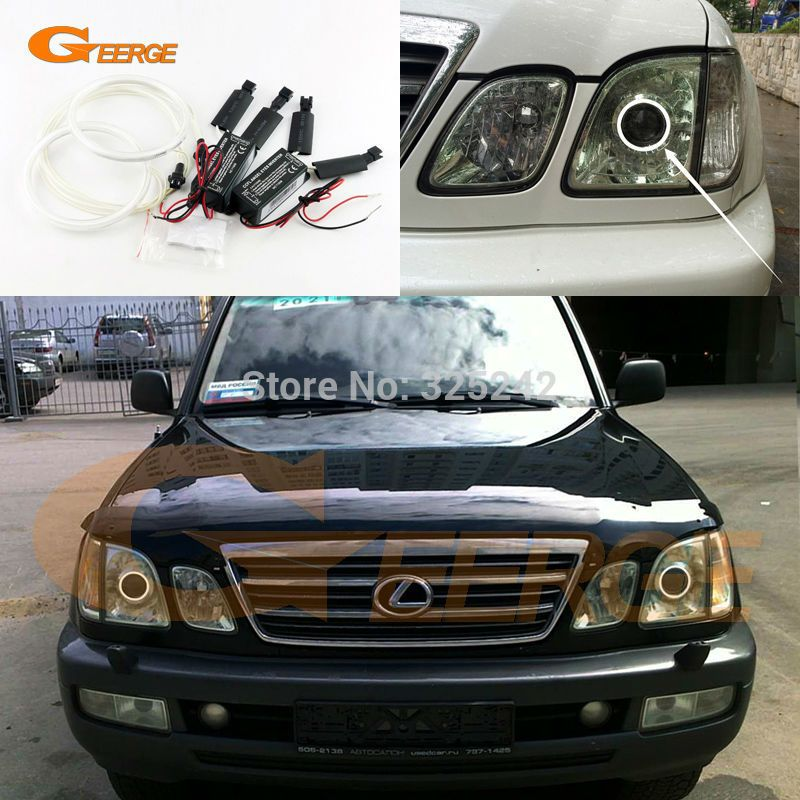 For Lexus Lx470 2003 2004 2005 2006 2007 Excellent Ultra Bright Illumination Ccfl Angel Eyes Kit Halo Ring Lexus Lx470 Car Lights Lexus