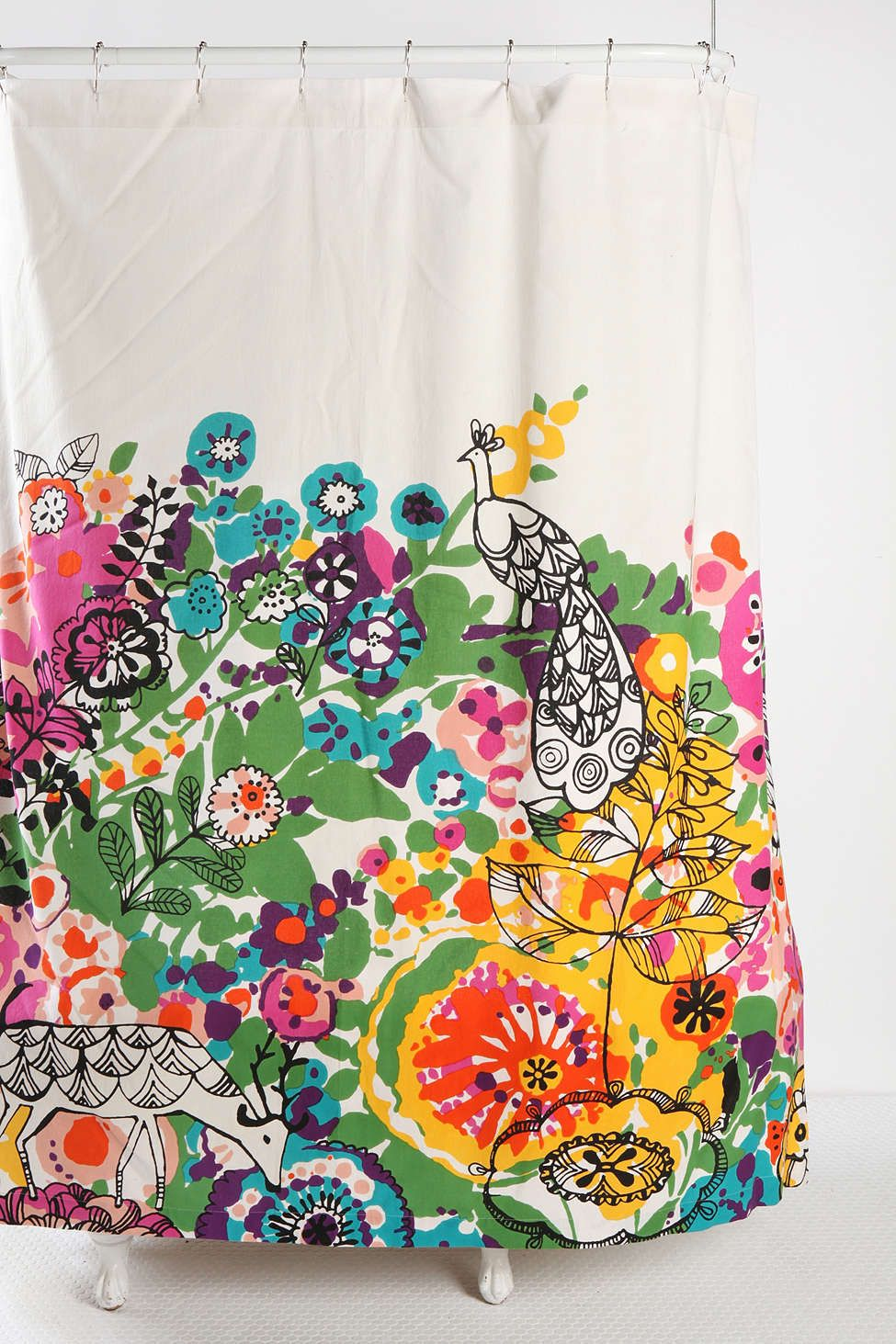 Peacock shower curtain urban outfitters - Woodland Garden Shower Curtain Urban Outfitters Kids Bathroom