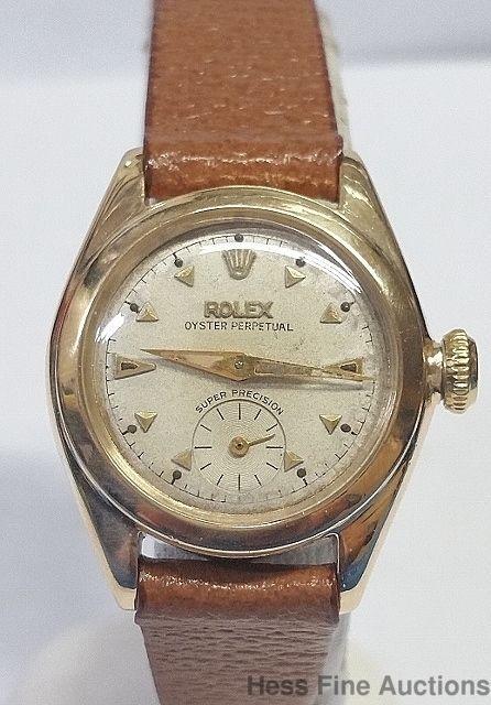 18k Gold Rolex Bubbleback Vintage Working Ultra Cool Retro Ladies Watch 5002 #Rolex #Sport