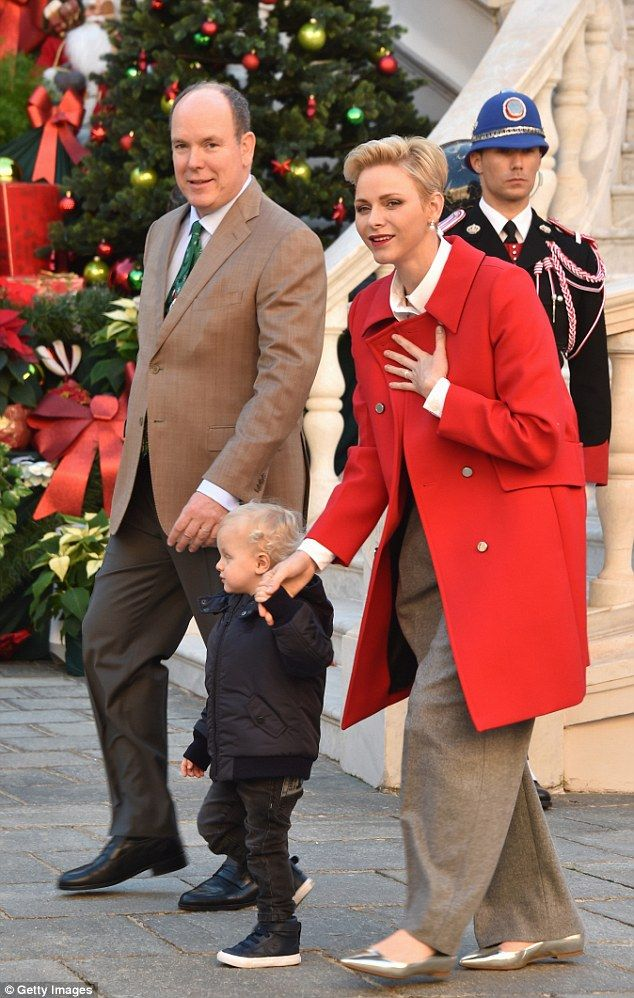 Prince Albert II of Monaco, and Princess Charlene Of Monaco attend the annual Christmas gi...