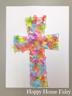 Easy cross craft easy cross tissue paper and template easy cross craft negle Gallery