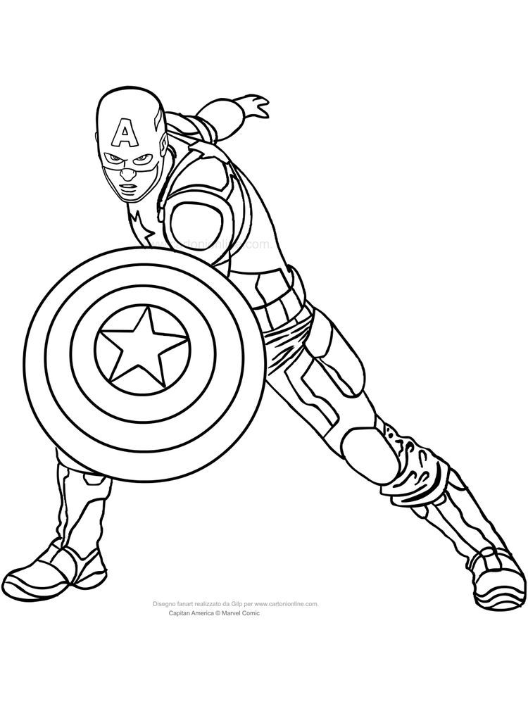 Lego Captain America Coloring Page