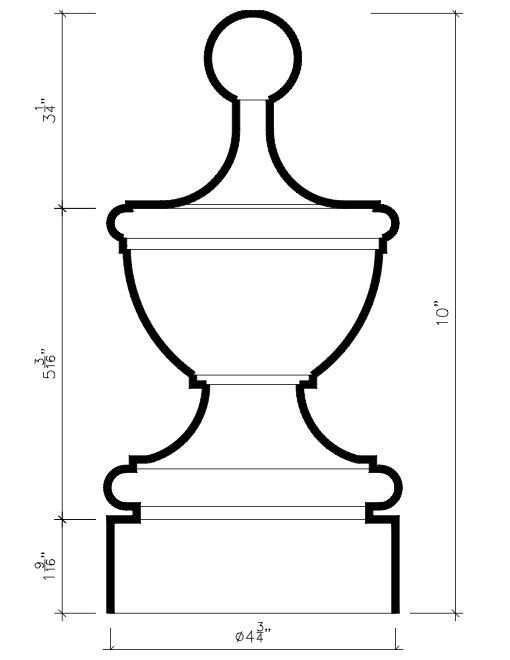 Best Staircase Finial Newel Post Cap Fn 0107 Wood 10 H X 4 By 400 x 300